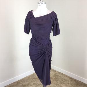 Tadashi Shoji M Purple Formal dress Midi Ruched